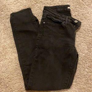Levis Black skinny jeans size 29